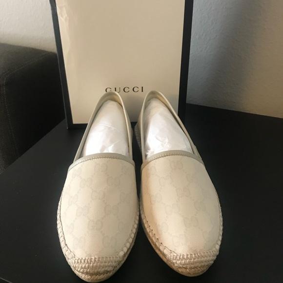 Gucci Shoes | Gucci Gg Cotton Off White